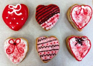 1. Valentines Heart Shaped Donuts